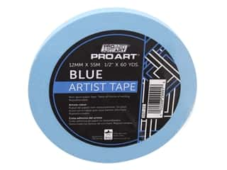 glues, adhesives & tapes: Pro Art Tape Artist .5 in. x 60 yd Blue