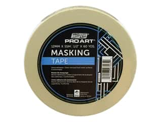 glues, adhesives & tapes: Pro Art Tape Masking .5 in. x 60 yd
