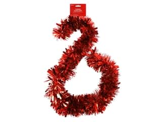 novelties: Darice Garland Tinsel 6ft Mega Red