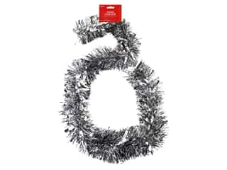 novelties: Darice Garland Tinsel 6ft Mega Silver