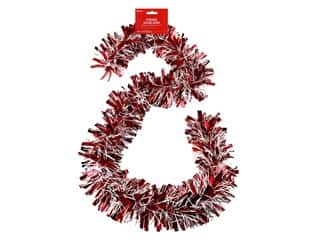 craft & hobbies: Darice Garland Tinsel 6ft Mega Red & White
