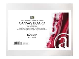 craft & hobbies: Art Advantage Canvas Board Recycled MDF 16 in. x 20 in.