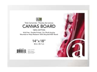 craft & hobbies: Art Advantage Canvas Board Recycled MDF 14 in. x 18 in.