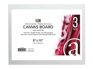 "craft & hobbies: Art Advantage Canvas Board Recycled MDF 8""x 10"" 3pc"