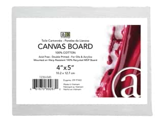 craft & hobbies: Art Advantage Canvas Board Recycled MDF 4 in. x 5 in.