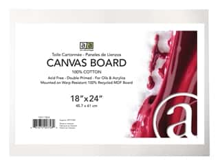craft & hobbies: Art Advantage Canvas Board Recycled MDF 18 in. x 24 in.