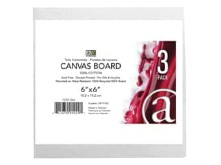 Art Advantage Canvas Board Recycled MDF 6 in. x 6 in. 3 pc