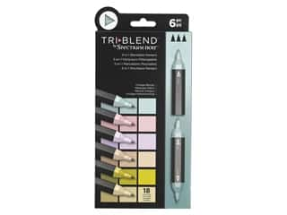 Crafter's Companion Spectrum Noir Tri Blend Marker Vintage Blends 6 pc