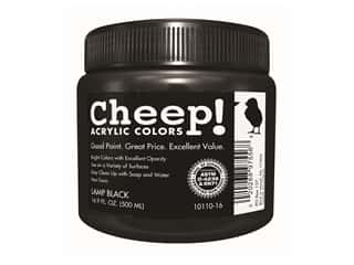 craft & hobbies: Cheep! Acrylic Paint 16.9oz Jar Lamp Black