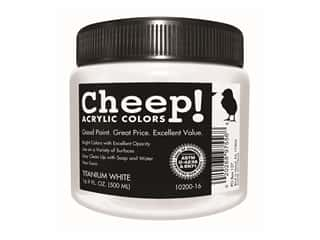 craft & hobbies: Cheep! Acrylic Paint 16.9 oz. Titanium White
