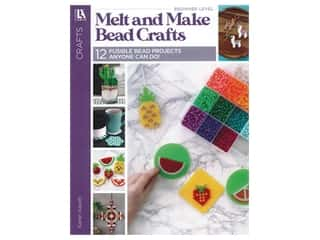books & patterns: Leisure Arts Crafts Melt And Make Bead Crafts Book