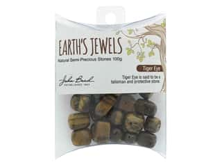 John Bead Semi Precious Bead Earth's Jewels 100g Tiger Eye Natural