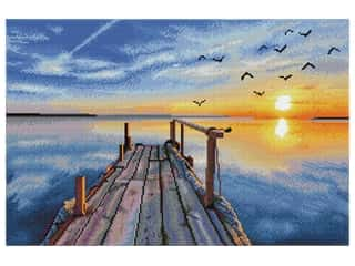 decorative bird: Diamond Dotz Facet Art Kit Advanced Sunset Jetty