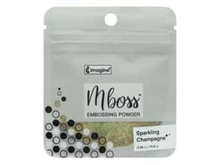 Imagine Crafts Mboss Powder .56 oz Sparkle Champagne