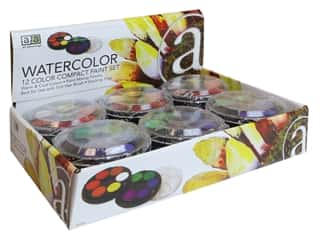 Art Advantage Watercolor Paint Compact 12 Colors