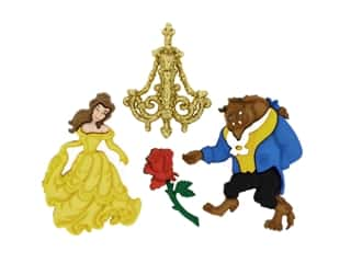 novelties: Jesse James Embellishments - Disney Beauty And The Beast Belle & Friends