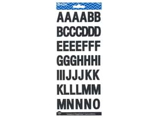 "Bazic Sticker Alphabet 1"" Black"