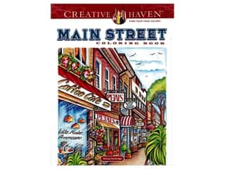 books & patterns: Dover Publications Creative Haven Main Street Coloring Book