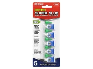 glues, adhesives & tapes: Bazic Super Glue Gel 0.5gm Single Use 5pc