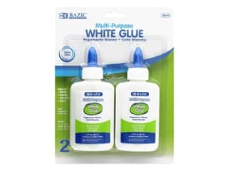 Bazic White Glue Multi Purpose 2.7oz 2pc