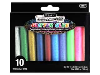 craft & hobbies: Bazic Glitter Glue Classic & Neon Color 10pc