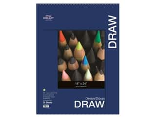 "Pro Art Drawing Paper Pad 18""x 24"" 80lb Wire Bound 25pc"