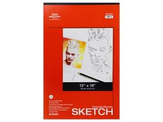craft & hobbies: Pro Art Sketch Paper Pad 50 lb 12 in. x 18 in. Tape Bound 30 pc