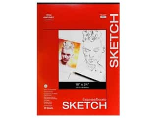 craft & hobbies: Pro Art Sketch Paper Pad 50 lb 18 in. x 24 in. Tape Bound 30 pc