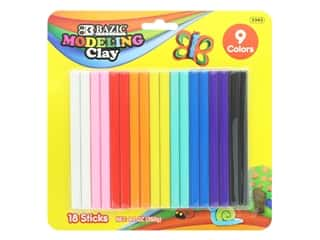 Bazic Modeling Clay Sticks 9.1oz Assorted 18pc