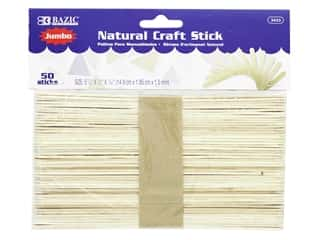 Bazic Craft Sticks Jumbo Natural 50pc