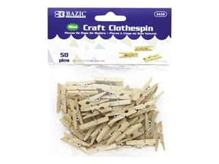 craft & hobbies: Bazic Craft Clothespin Mini 50pc Natural