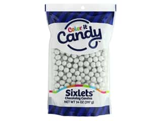 Color it Candy Sixlets - Shimmer White 14 oz.