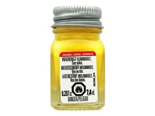 craft & hobbies: Testors Enamel Paint Gloss Yellow .25oz