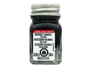 Testors Enamel Paint Flat Black .25oz