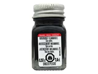 Testors Enamel Paint Metallic Black .25oz