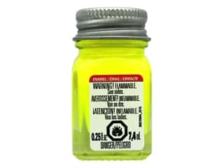 Testors Enamel Paint Fluorescent Yellow .25oz