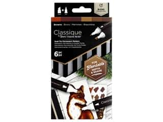Crafter's Companion Spectrum Noir Classique Alcohol Marker Browns 6pc