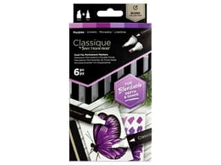 Crafter's Companion Spectrum Noir Classique Alcohol Marker Purples 6pc