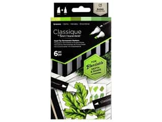 Crafter's Companion Spectrum Noir Classique Alcohol Marker Greens 6pc