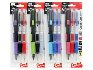 Pentel Mechanical Pencil Quick Click .5mm Assorted 2pc
