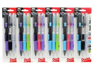 Pentel Mechanical Pencil Quick Click .7mm Assorted 2pc