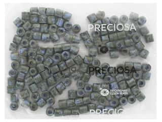 John Bead Czech Rola Bead 7.7mm Opaque Travertine On Blue