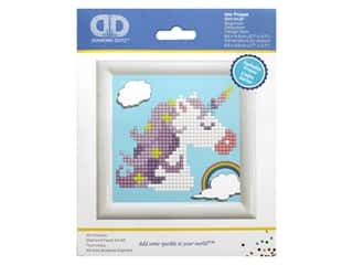 craft & hobbies: Diamond Dotz Facet Art Kit Beginner With Frame Unicorn Prayer