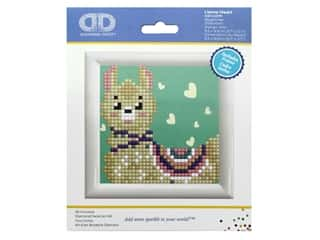 Diamond Dotz Facet Art Kit Beginner With Frame Llama Heart Picture