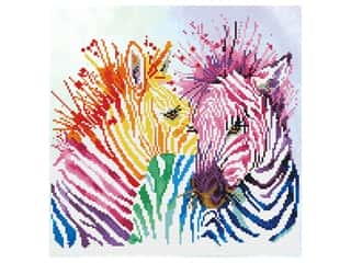 Diamond Dotz Facet Art Kit Intermediate Rainbow Zebras
