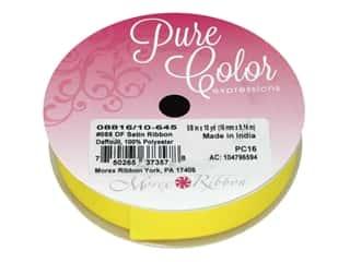 Morex Double Face Satin Ribbon 5/8 in. x 10 yd. Daffodil