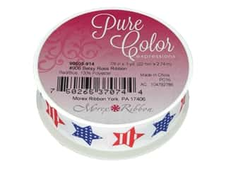 "craft & hobbies: Morex Ribbon Betsy Ross 7/8""x 3yd Red/Blue"