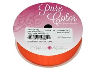 craft & hobbies: Morex Grosgrain Ribbon 7/8 in. x 7 yd. Torrid Orange