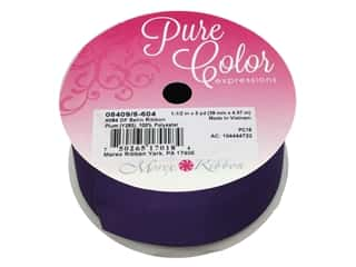 craft & hobbies: Morex Double Face Satin Ribbon 1 1/2 in. x 5 yd. Plum