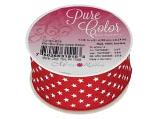 Morex Ribbon Wire Mini Stars 1.5 in. x 3 yd Red